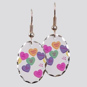 Candy Hearts! Earring Oval Charm