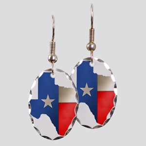 State of Texas Earring Oval Charm