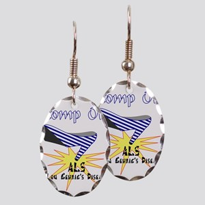 ALS AWARENESS Earring Oval Charm