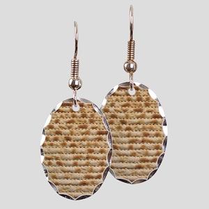 Matzah Earring Oval Charm