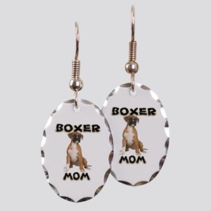 Boxer Mom Earring Oval Charm