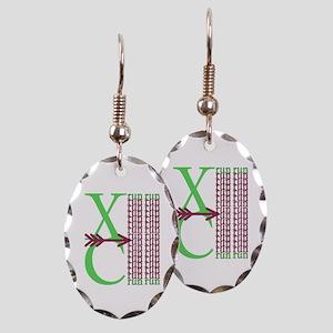 XC Run Green Purple Earring Oval Charm