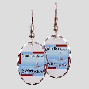 Sail Away Earring Oval Charm
