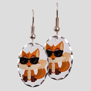 Cool Fox Earring Oval Charm