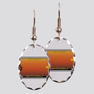 New Mexico License Plate Earring Oval Charm