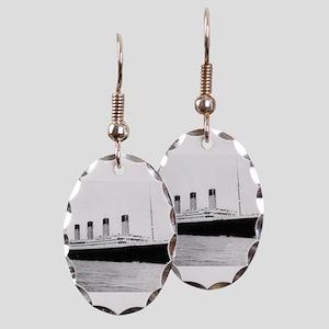 Titanic Earring Oval Charm