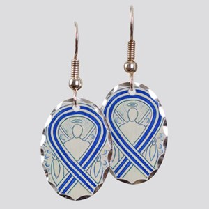 ALS Awareness Ribbon Angel Earring