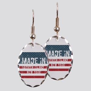 Made in Staten Island, New York Earring Oval Charm