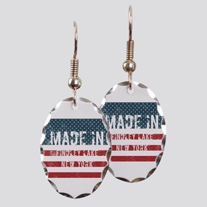 Made in Findley Lake, New York Earring Oval Charm