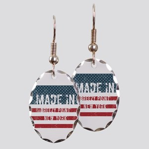 Made in Breezy Point, New York Earring Oval Charm