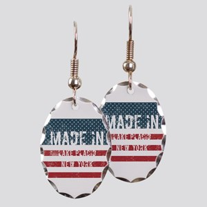 Made in Lake Placid, New York Earring Oval Charm