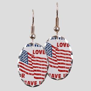 Faded America Love it Earring