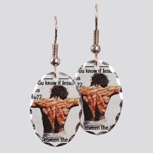 Do you know if Jesus loves you? Earring Oval Charm