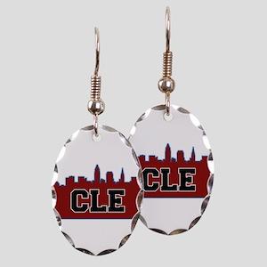 CLE Maroon/Black Earring