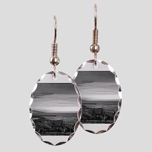 Black & White Sunset Earring Oval Charm