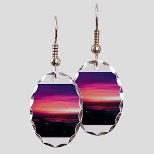 Beautiful Sunset Earring Oval Charm