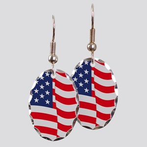 American Flag Waving Earring