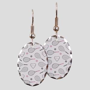 Elegant Tennis Love Pattern Grey and Pink Earring