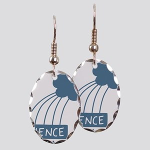ScienceIsAwesome_dark Earring Oval Charm