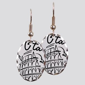 italy Earring Oval Charm