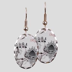 SmokinRoyalFlushB Earring Oval Charm