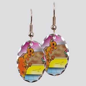 6794_easter_cartoon Earring Oval Charm
