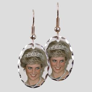 Stunning! HRH Princess Diana Earring Oval Charm