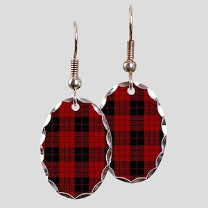 McCleod MacCleod Tartan Plaid Earring Oval Charm