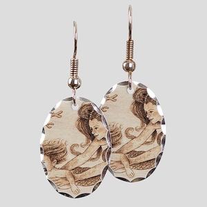 Mer-baby Earring Oval Charm