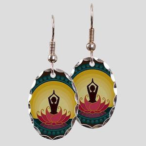Sunrise Yoga Art Earring Oval Charm