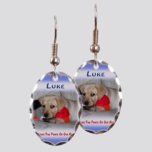 Personalized Critter Characters Earring Oval Charm