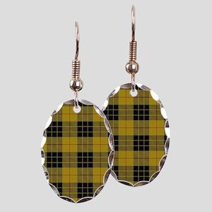 McCleod Tartan Plaid Earring Oval Charm