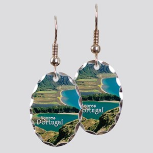 Lagoa do Fogo Earring Oval Charm