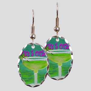 5 OClock Margarita Earring Oval Charm