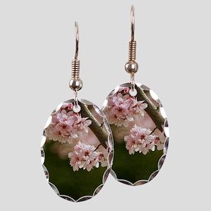 cherry blossom flowers Earring Oval Charm