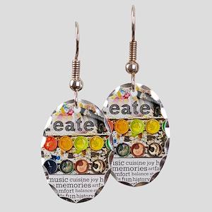 Create Earring Oval Charm