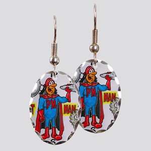 time for potman Earring Oval Charm