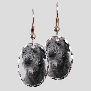Irish Wolfhound Earring Oval Charm