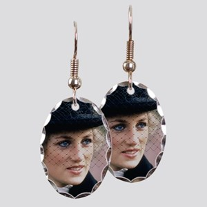 HRH Princess of Wales France Earring Oval Charm