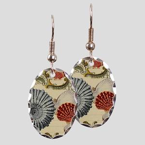 modern beach seashells seahorse Earring Oval Charm