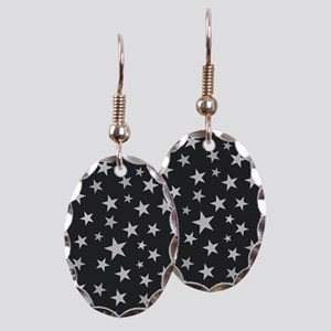 Star Cluster Earring Oval Charm