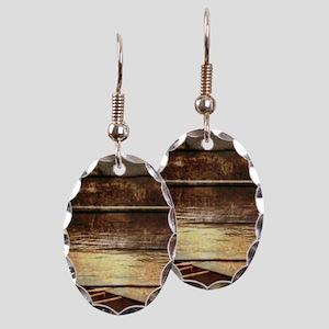 rustic country lake canoe Earring Oval Charm