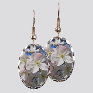 Cherry Blossom Blush Earring Oval Charm