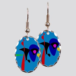 Abstract Expressionism Simple Digital Art Earring