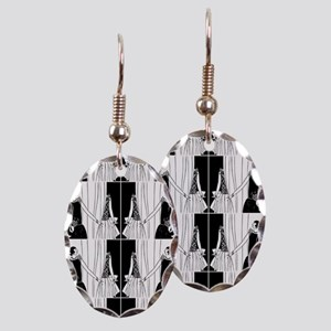 1920s flapper 2 Earring Oval Charm