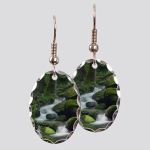 Summer Forest Brook Earring Oval Charm