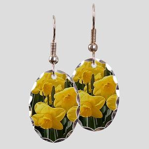 Daffodil flowers in bloom in ga Earring Oval Charm