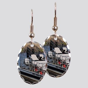 Florida swamp airboat Earring Oval Charm