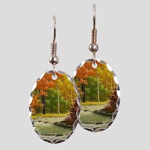 Autumn Landscape Earring Oval Charm