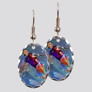 Super Crayon Colored Wakeboardi Earring Oval Charm